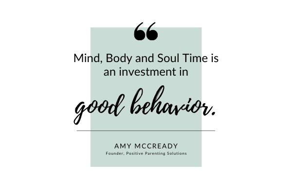 mind body and soul time is an investment in good behavior