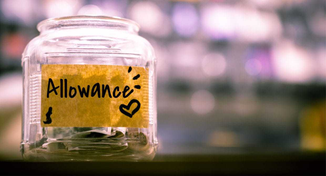 Money jar used for allowance