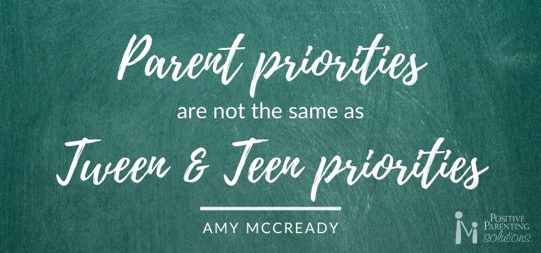 Parent Priorities are not the same as teen priorities