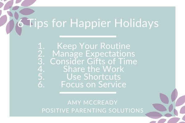 6 tips to happier holidays