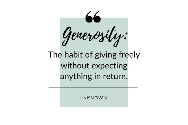 quote about generosity