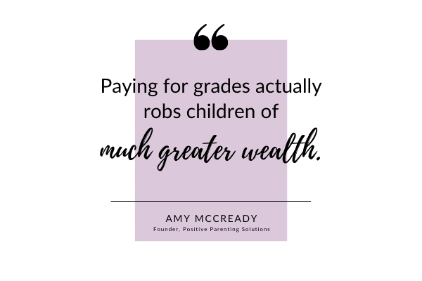 paying for grades robs children of greater wealth
