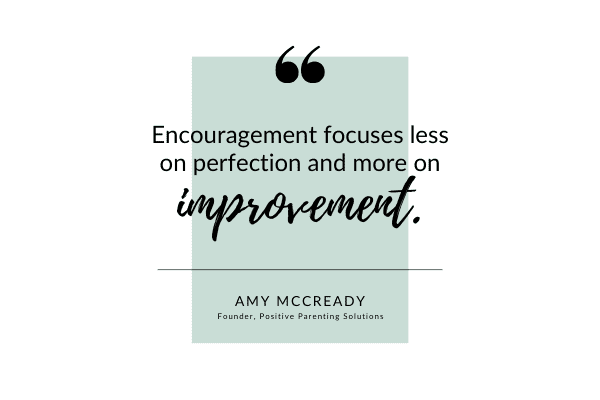 Encouragement focuses on improvement quote