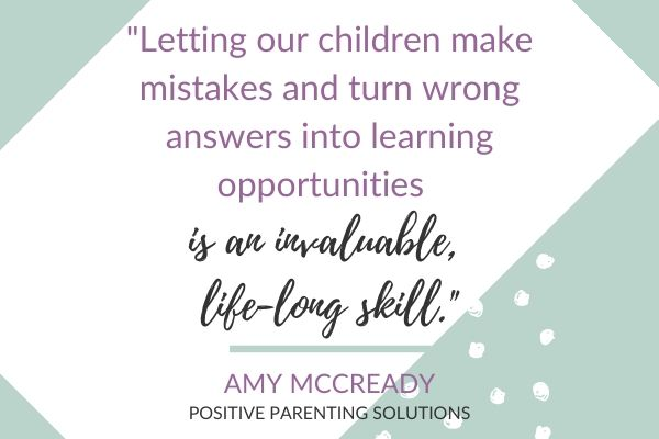 Let our children make mistakes quote