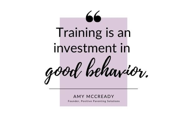 training is an investment in good behavior