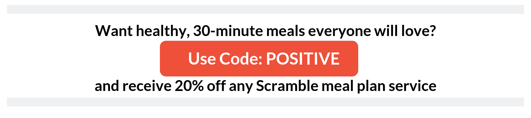 Get 20% off an any Scramble Meal plan service