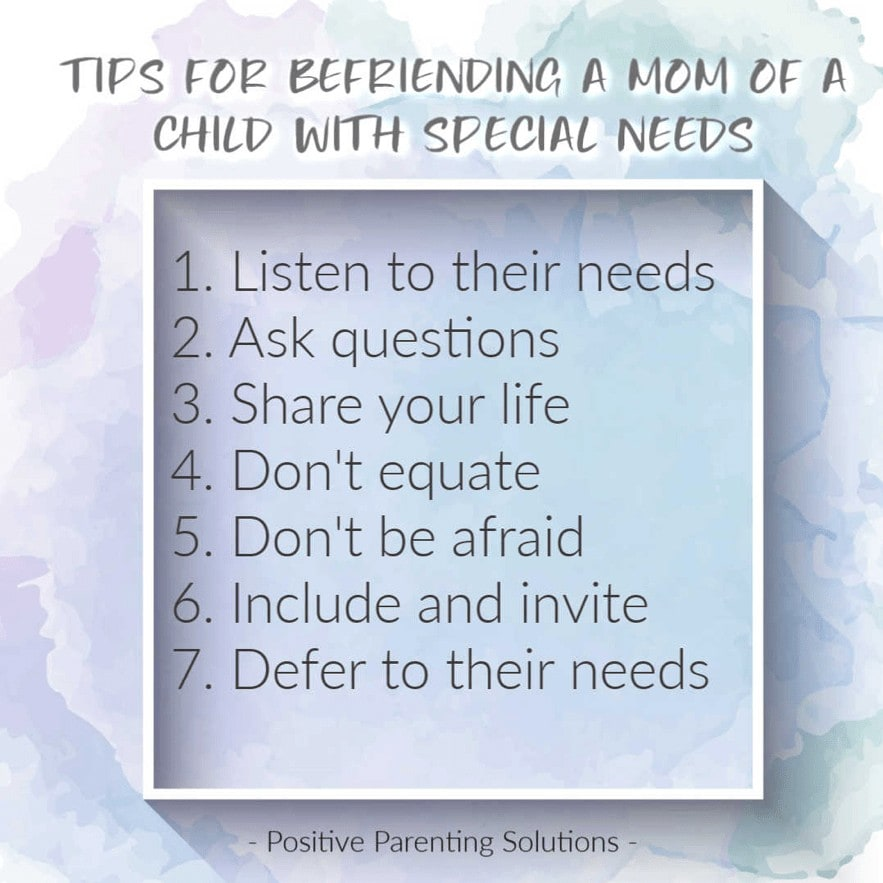 Tips for Befriending a Mom of a Child with Special Needs