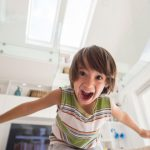 Little Boy excited he's home alone