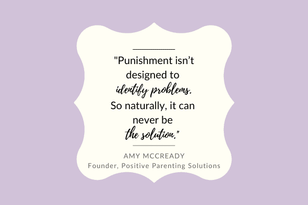 punishment isn't a solution